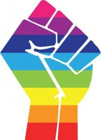 Urban PRIDE logo - Rainbow Fist