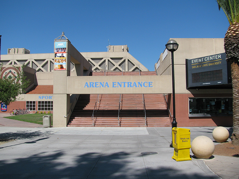 Front view of the event center.