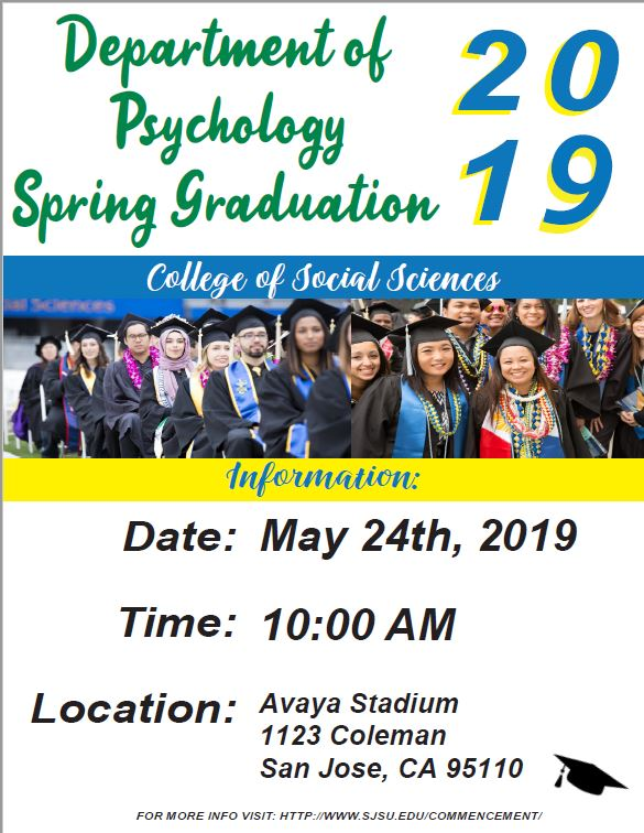 Department of Psychology Spring 2019 Graduation