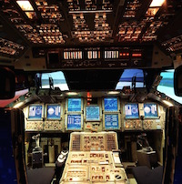 Image: Cockpit of the Space Shuttle simulator