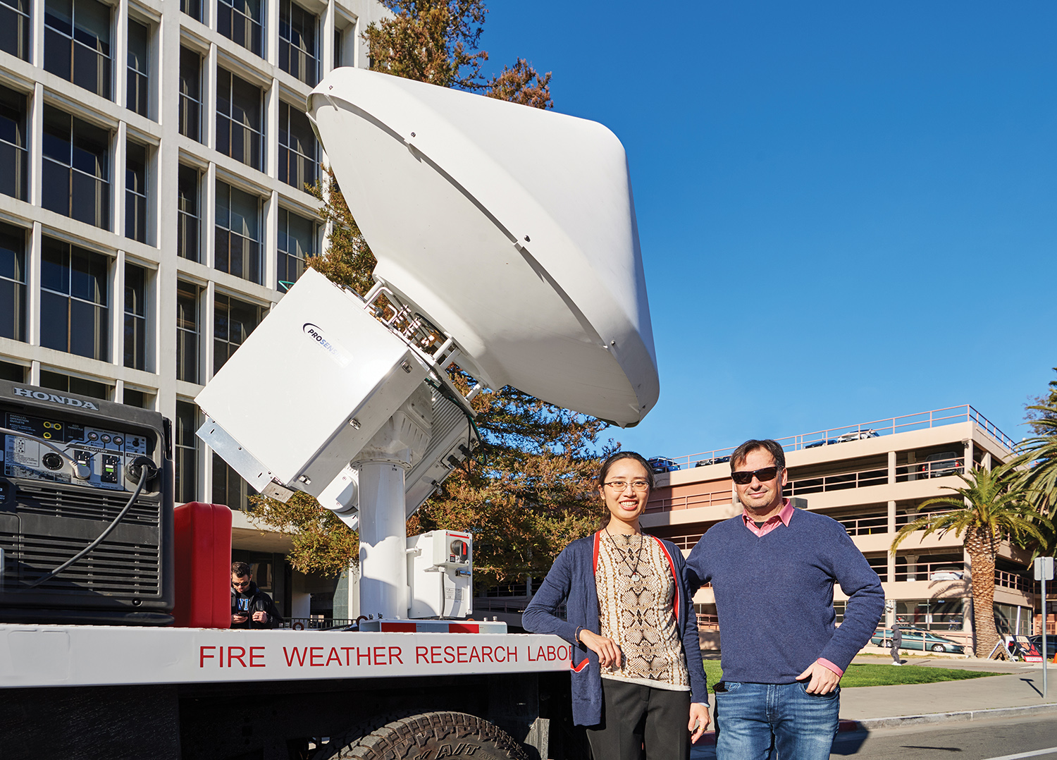 doppler radar in fire weather research truck