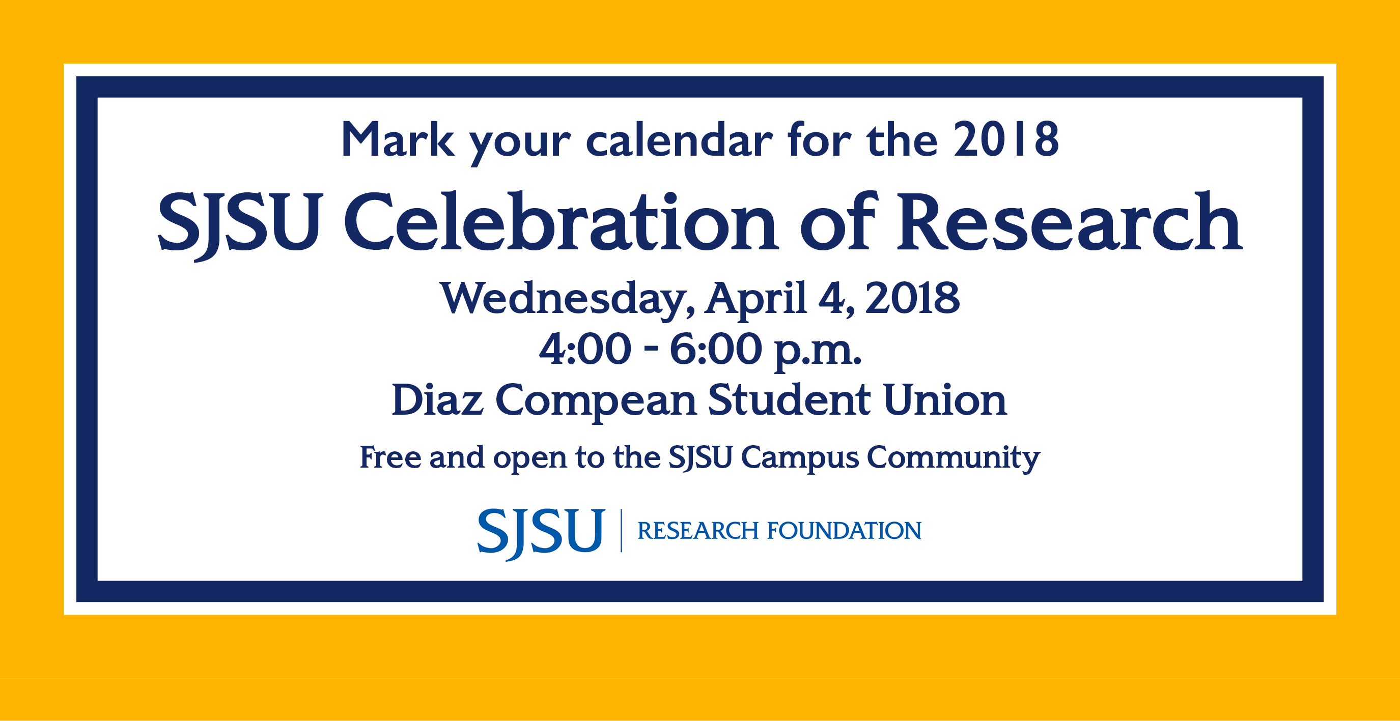 SJSU Celebration of Research