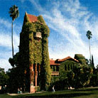 Tower Hall covered with ivy