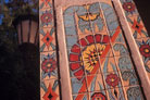 photo: tilework on Washington Square Hall building column