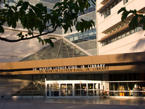 King Library Campus Side Entrance