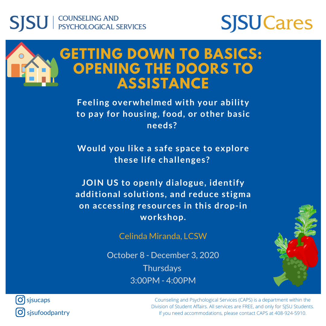 Workshop from CAPS & SJSU Cares