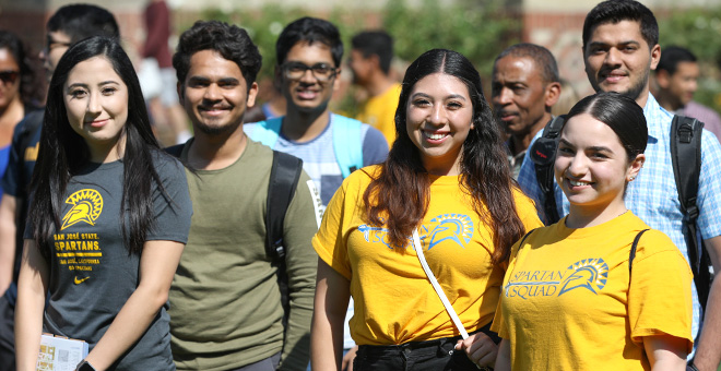 SJSU Students at Welcome Event