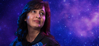 Anima Patil-Sabale, '10 MS Aerospace Engineering, deep-space travel dreams.