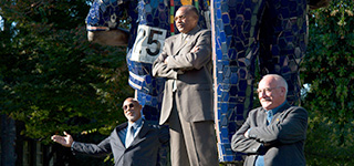 SJSU honored Tommie Smith, John Carlos and Peter Norman with a 22-foot high sculpture.