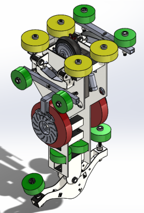 Steering Mechanism Render 2