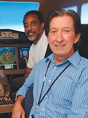Kevin Jordan and Vern Battiste in Flight Simulator