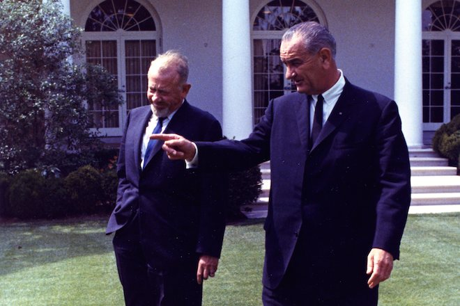 JS with President Johnson