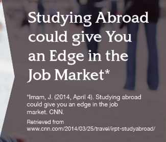 Studying Abroad could give you an Edge in the Job Market.