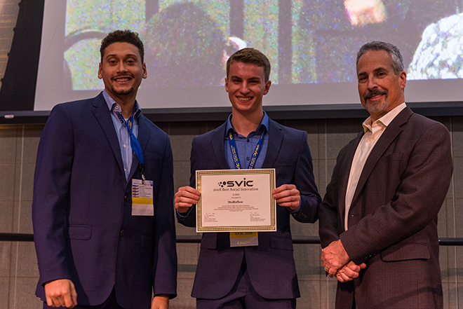 Second place winners of best innovation at SVIC
