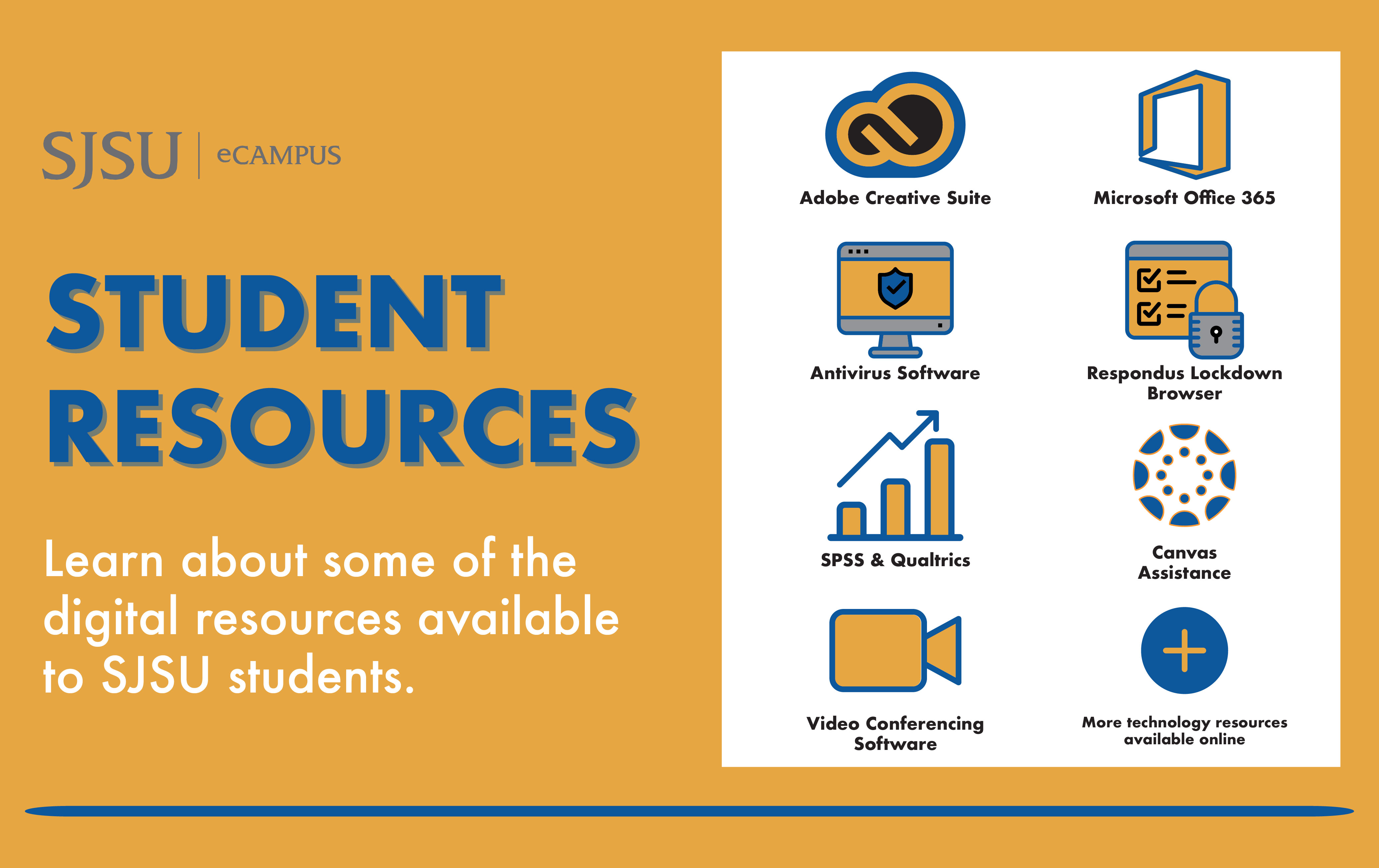 Learn about some of the digital resources available to SJSU students.