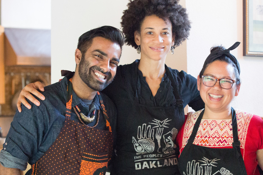 PKC Co-Founders Saqib Keval, Jocelyn Jackson, and Sita Bhaumik at the Montalvo Arts Center's Lucas Artist Residency Program.  Photo: Tina Case Photography
