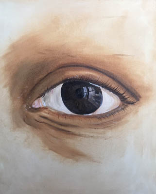 painting of a close up eye