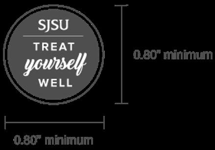 SJSU Treat Yourself Wordmark Size