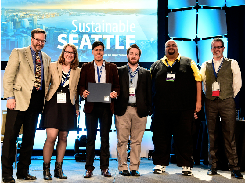 SJSU masters of urban planning students receiving a national award from the American Planning Association