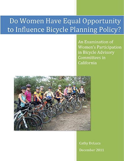 Do Women Have Equal Opportunity to Influence Bicycle Planning Policy?