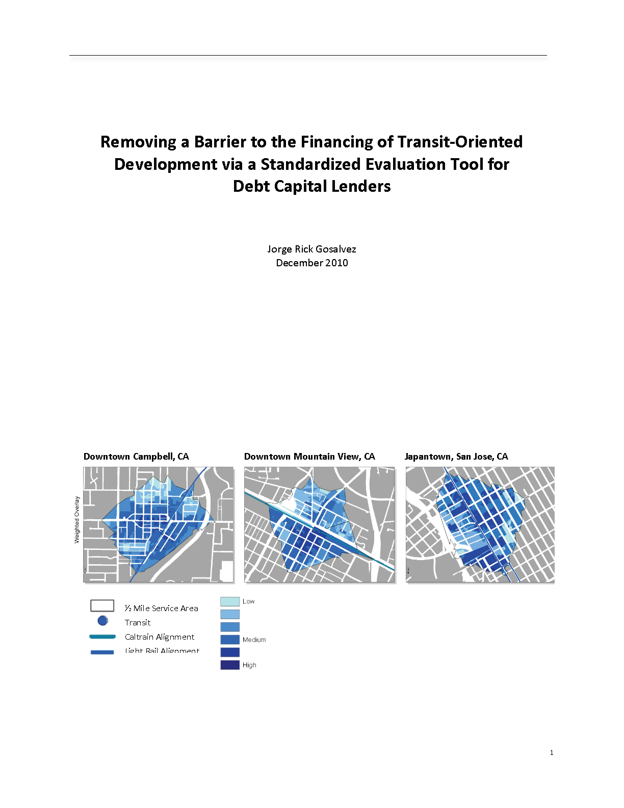 Removing a Barrier to the Financing of Transit-Oriented Development