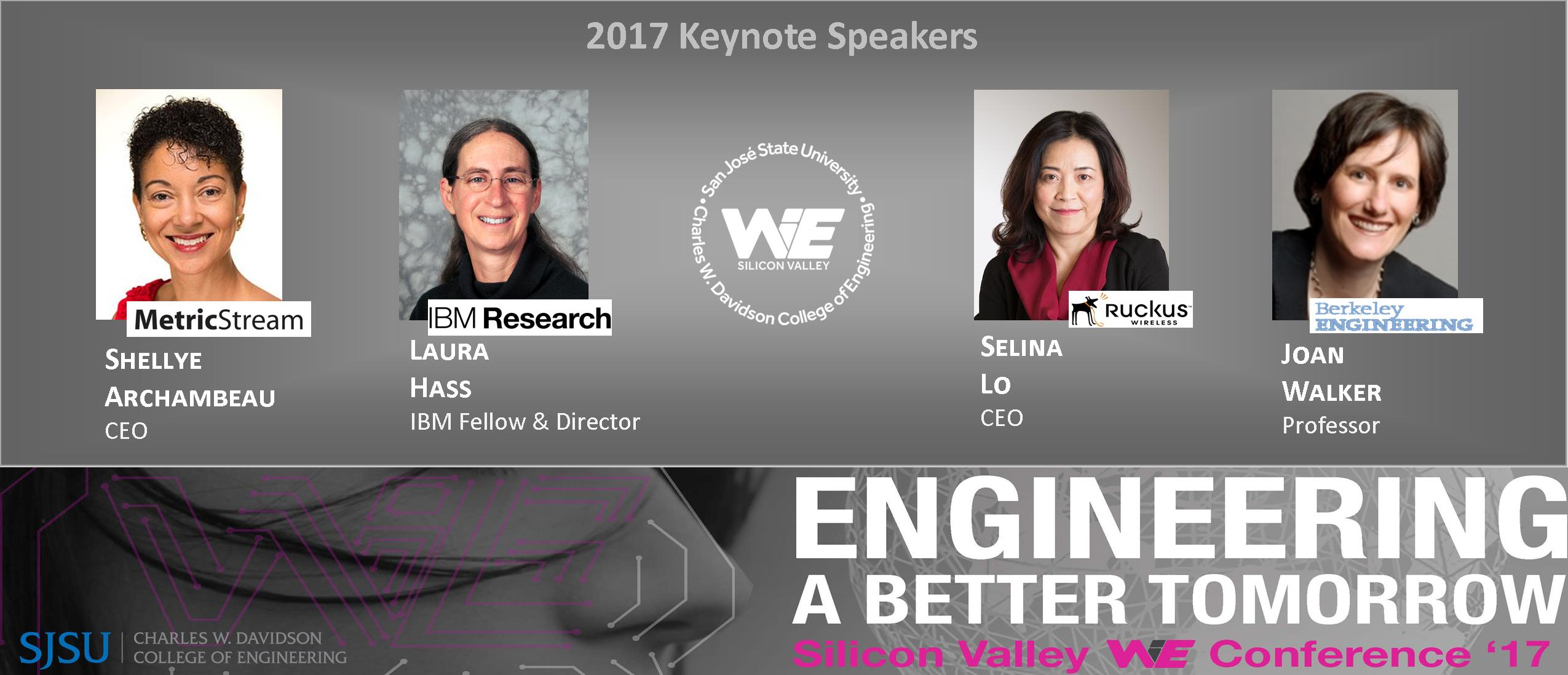 WiE 2017 Keynote Speakers