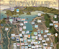 Image of companies maped out in Silicon Valley