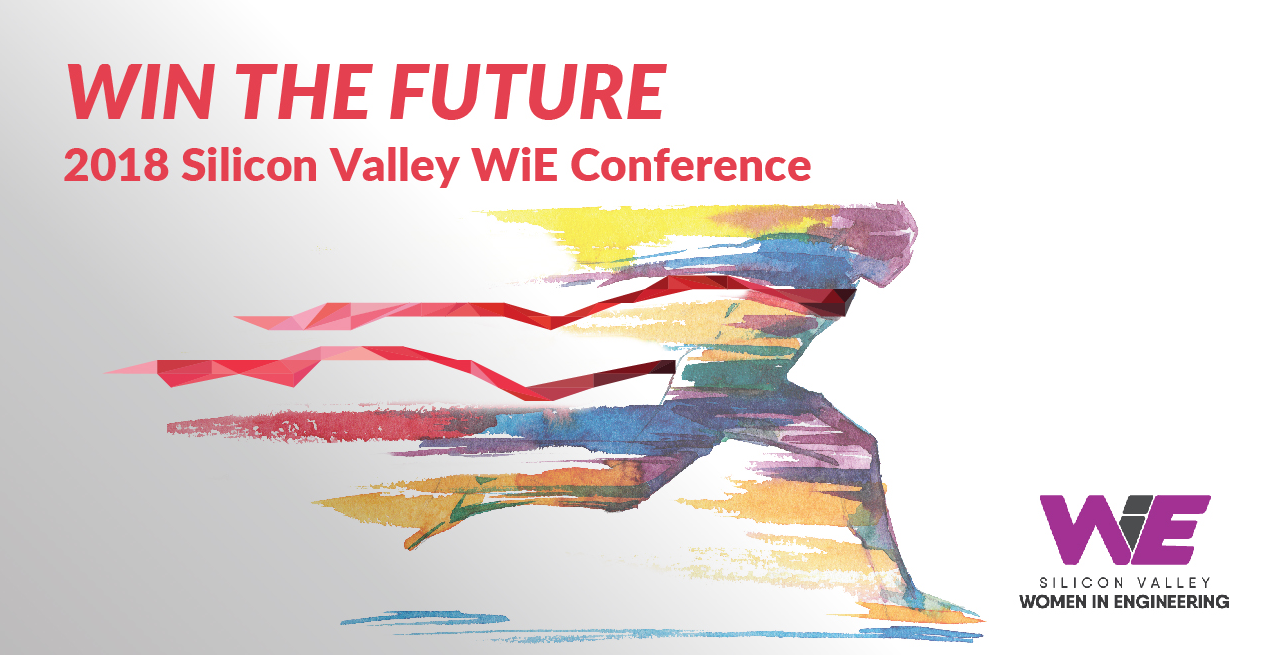 WiE logo and links to SV WiE Conference,