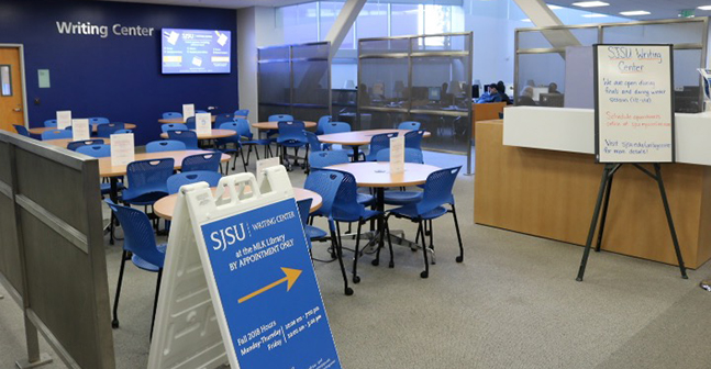 SJSU Writing Center Library Location Picture.
