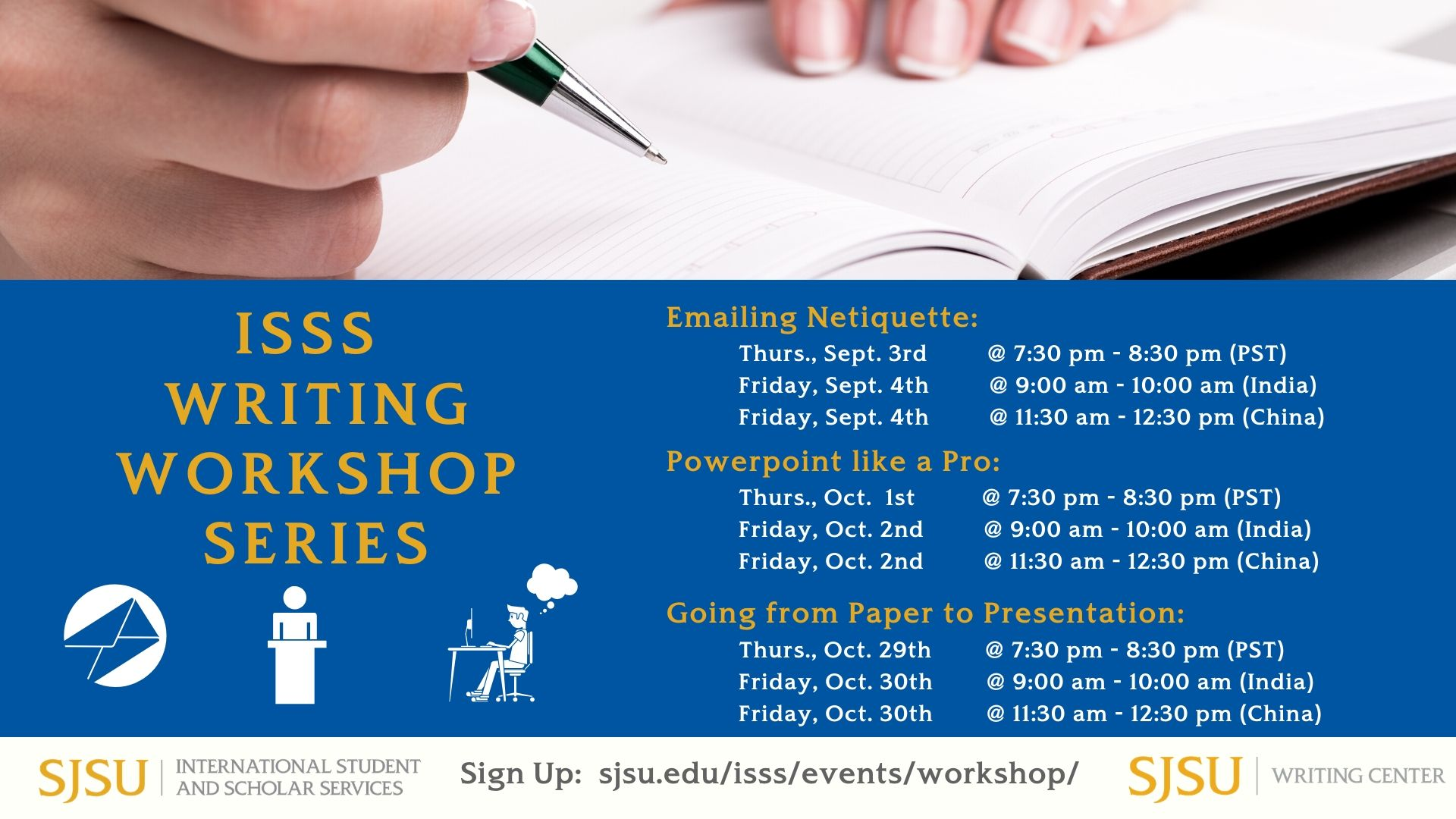 ISSS Writing Workshop Series